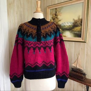 Vintage Hand Knit Northern Isles Sweater
